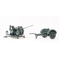 Preiser 16565 - 2cm Antiaircraft Gun/Trlr
