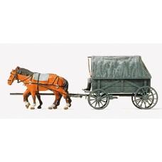 Preiser 16588 - Horse Drawn Wagon w/Horse