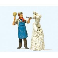 Preiser 44901 - Sculptor w/Sculpture