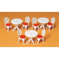 Preiser 45209 - Tables & chairs