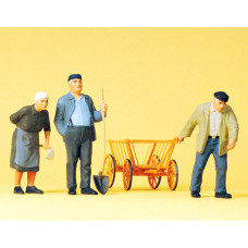 Preiser 63078 - Farm Workers w/Cart 1:32
