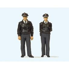 Preiser 63101 - Standng FRG Police Blu 2/