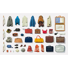 Preiser 65811 - Suitcases And Bags