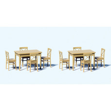 Preiser 68281 - 2 Tables - 8 Chairs
