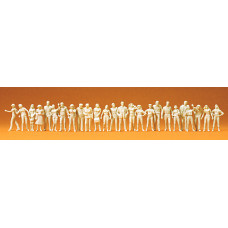 Preiser 72512 - People Stnd/Wlkng Unp 25/