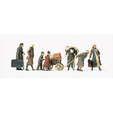 Preiser 72531 - Refugee w/Luggage Unp 7/