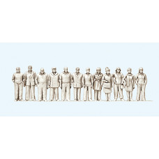 Preiser 74091 - Standing People Unp 12/