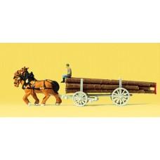 Preiser 79477 - Log hauling wagon