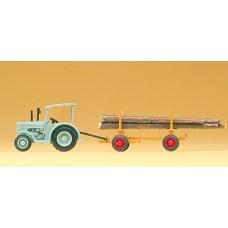 Preiser 79504 - Hanomog w/log trailer