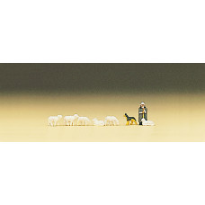 Preiser 88577 - Shepherd w/flock & dog 8/