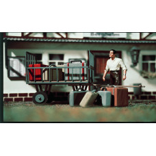 Vollmer 41228 - Baggage Cart w/Luggage