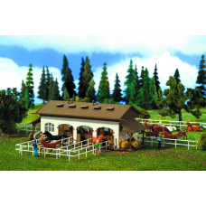 Vollmer 43790 - Riding Stable w/Horses