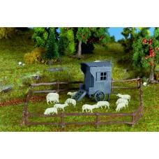 Vollmer 47717 - Shepherd Carriage w/Sheep