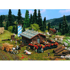 Vollmer 47741 - Mountain lodge-logs