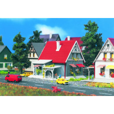Vollmer 49572 - Gray House w/Red Roof