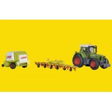 Kibri 12233 - CLAAS Tractor/Rake/Baler