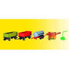 Kibri 12996 - Farm machinery wagon set