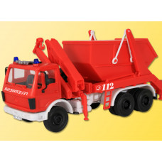 Kibri 18259 - MB Skip Lorry w/Skip red