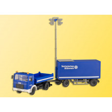 Kibri 18462 - MAN 2 Axle w/Trailer THW