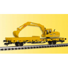 Kibri 26250 - Low Side Car w/Excavator-   - Finished model