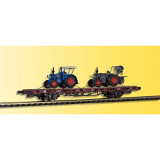 Kibri 26252 - Low Side Car w/2 Tractors-   - Finished model