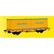Kibri 26268 - Flat Car w/2 Containers-   - Finished model