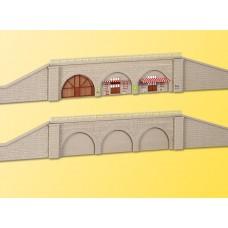 Kibri 37671 - 2 Retaining Walls w/Supp