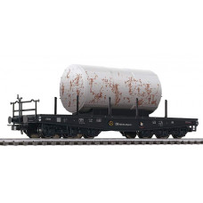 Liliput L221229 Flat Car with 3-axle Bogies with Load - Weathered DB Ep.III