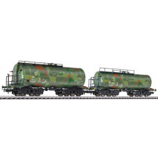 Liliput L230134 Tank Wagon Set Military Camouflage Livery DR Ep.II