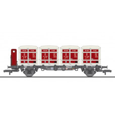 Liliput L235140 Flat Wagon BT55 with Four Containers Ekrt 231 DB Ep.III