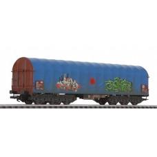Liliput L235779 Steel Transport Wagon Blue Tarpaulin DB Ep.V Weathered