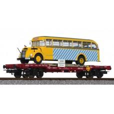 Liliput L235782 Flat Wagon OBB with Omnibus 'Graef+Stift' SLB Ep.V