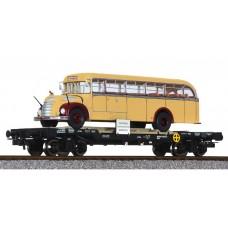 Liliput L235783 Flat Wagon OBB with Omnibus 'Graef+Stift' ÖBB Ep.IV