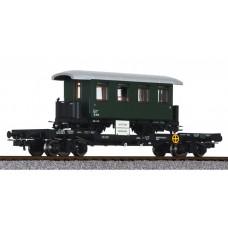 Liliput L235786 Flat Wagon with H0e Coach Load ÖBB Ep.IV