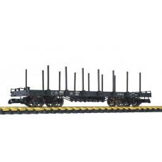 Liliput L95753 (D) Flat Wagon with Stanchions Black